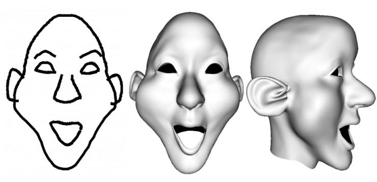 用深度學習快速人臉建模